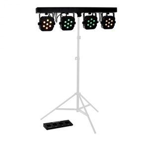 LED PARBAR 4 Way 7x10W Quad Efeito de LED DMX Controle Musical