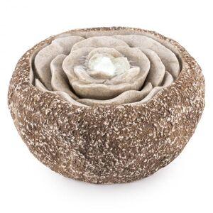 Rosewater Fonte Decorativa LED 36x19 cm Bomba de Água Aparência de Pedra