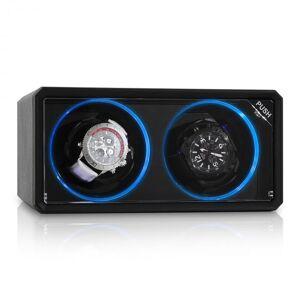8LED2S Caixa rotativa para 2 relógios preto LED