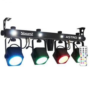LED ASTRO Barra BAR 4 Vias Kit COB LED 4 x 10 W DMX incl. Botão de Pé