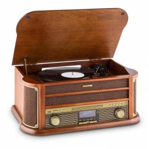 Belle Epoque 1908 DAB Aparelhagem Estéreo Revivalista Gira-Discos DAB+ Bluetooth