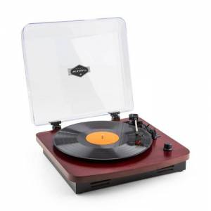 TT370 Gira-Discos Revivalista Altifalantes Integrados USB MP3 AUX - cerejeira