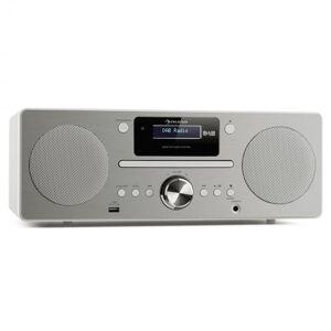 Harvard Micro Aparelhagem DAB/DAB+ Ráio FM Leitor CD Porta USB Branco