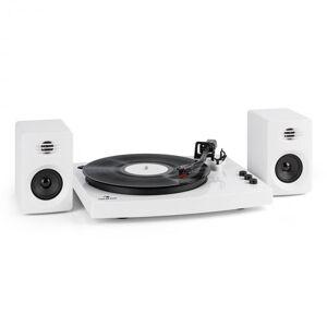 "TT-Play Gira-discos 2 Altifalantes (3""/10W) BT 33 1/3 & 45 voltas/min branco"
