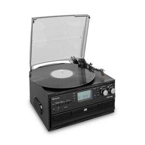 Oakland Retro Sistema de Som FM BT Função Vinil CD Cassette MP3