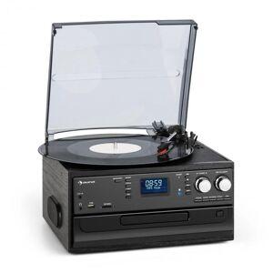 Oakland DAB Sistema de som estéreo Retro função DAB+/FM BT Cassete de CD em vinil
