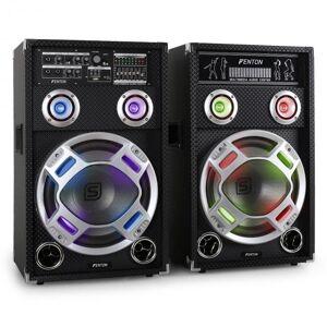 / Skytec KA-12 Conjunto de Colunas PA ativo para karaoke USB