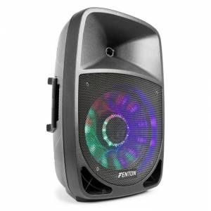 "FT1200A Altifalante Activo 250W 12"" MP3 Bluethooth USB SD AUX LED LCD"