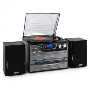Stereo Gira-Discos Leitor de Cassettes CD MP3 Encoder