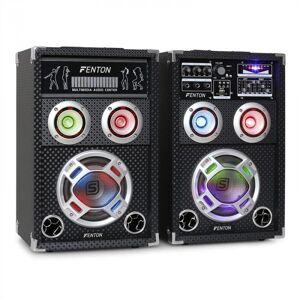 / Skytec KA-06 Conjunto de Colunas PA ativo para karaoke USB