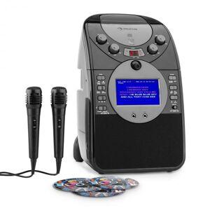 ScreenStar Sistema de Karaoke Câmara CD USB SD MP3 2 x Microfone 3 x CD+G Preto
