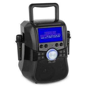 "Stage Hero Máquina de Karaoke Bluetooth Leitor DVD Ecrã TFT 7 "" c/2 Microfo"