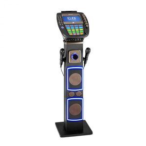 "KaraBig Sistema de Karaoke Bluetooth LED 7"" TFT CD USB Altifalantes 80 W"