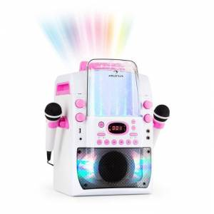Kara Liquida BT Sistema Karaoke Show de Luzes Fonte Bluetooth Branco/Rosa