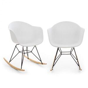 Skandi Conjunto de 2 Cadeiras de Baloiço Polipropileno Branco
