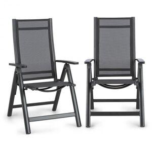 Cádiz Conjunto de 2 Cadeiras Dobráveis 59,5 x 107 x 68 cm ComfortMesh Antracite