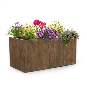Timberflor Vaso de plantas 80 x 40 x 40 cm Fibra de vidro interna/externa marrom