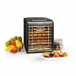Fruit Jerky 9 Desidratador de Alimentos Temporizador 9 Prateleiras 600-700W Preto
