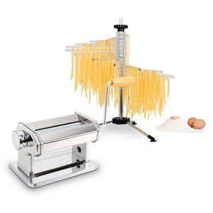 Klarstein Pasta Set Siena Pasta Maker Máquina de Massa Fresca Aço Inoxidável + Secador Verona
