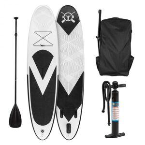 Spreestar Set Prancha Stand UP Paddle Surf inflável 300x10x71cm Preta - Branca