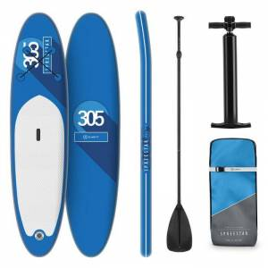 Spreestar Conjunto SUP-Board Paddelboard Inflável 305x10x77 Azul