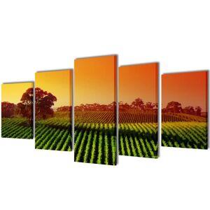 vidaXL Políptico impressão campos/plantações 200 x 100 cm
