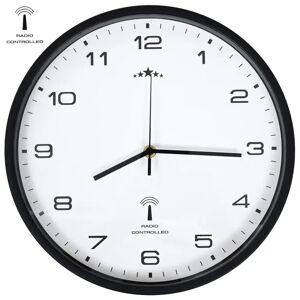 vidaXL Relógio parede c/ controlo rádio mecanismo quartzo 31cm branco