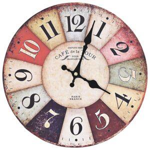 vidaXL Relógio de parede vintage colorido 30 cm