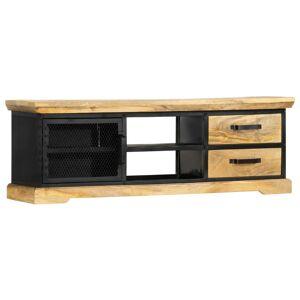 vidaXL Móvel de TV 120x30x40 cm madeira de mangueira maciça preto