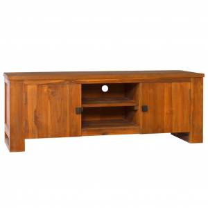 vidaXL Móvel de TV 110x30x40 cm madeira de teca maciça