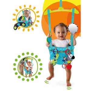 Bright Starts Bright Stars Saltador de porta p/ bebé Bounce'n Spring turquesa K10410