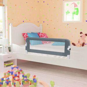 vidaXL Barra de segurança p/ cama infantil 102x42cm poliéster cinzento