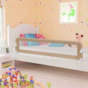 vidaXL Barra segur. cama infantil 180x42cm poliéster cinza-acastanhado
