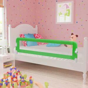 vidaXL Toddler Barra de segurança para cama 150 x 42 cm verde