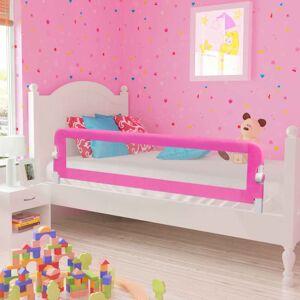 vidaXL Toddler Barra de segurança para cama 150 x 42 cm rosa