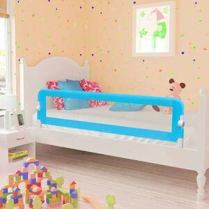 vidaXL Toddler Barra de segurança para cama 150 x 42 cm azul