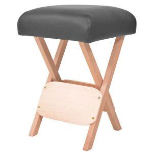 vidaXL Banco de massagem dobrável assento c/ 12 cm de espessura preto