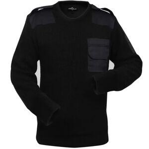 vidaXL Camisola de trabalho para homem preto tamanho XL