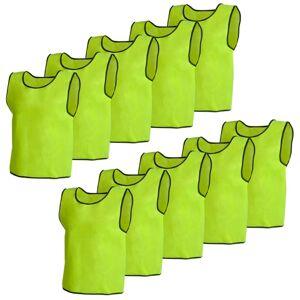 vidaXL Camisas sem mangas amarelas para treinar 10 peças