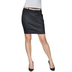 vidaXL Mini-saia preta de escritório com cinto tamanho 34