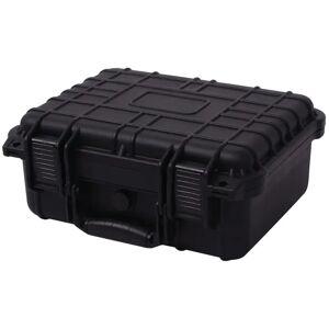 vidaXL Caixa protetora de equipamento 35x29,5x15 cm preto