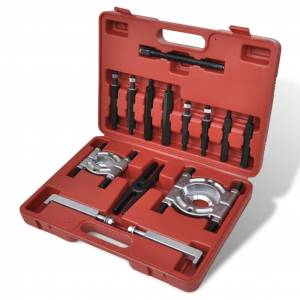 vidaXL Kit Extractor de Rolamento 14 peças