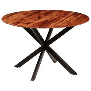 vidaXL Mesa de jantar em madeira de sheesham maciça 120x77 cm