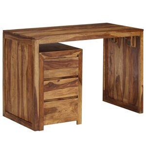 vidaXL Secretária em madeira de sheesham maciça 110x55x76 cm