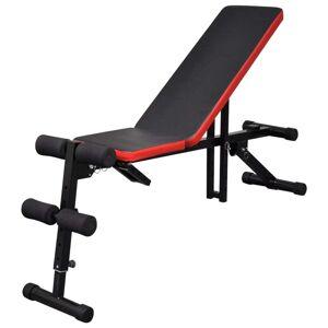 vidaXL Banco musculação ajustável múltiplas posições