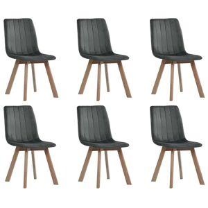 vidaXL Cadeiras de jantar 6 pcs veludo cinzento