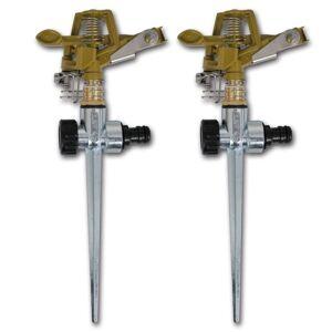 vidaXL Aspersores de rega metalicos 2 peças