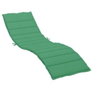 vidaXL Almofadão para espreguiçadeira 200x60x4 cm tecido verde