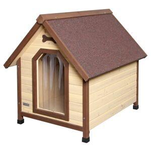 Kerbl Casota para cães 4 estações 100x83x94 cm castanha 81349