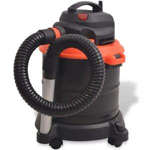 vidaXL Aspirador de cinzas 1200 W 20 L preto e laranja